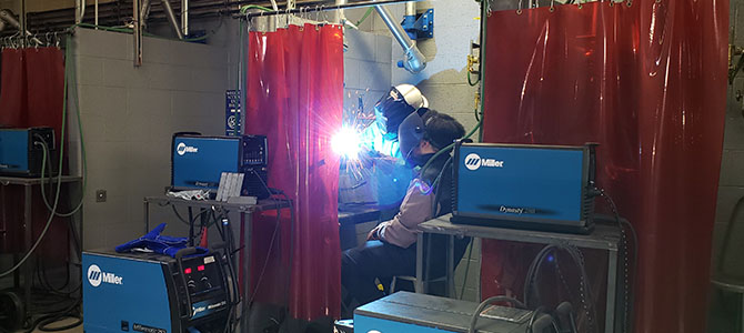 Student Receives Free Welding Lesson