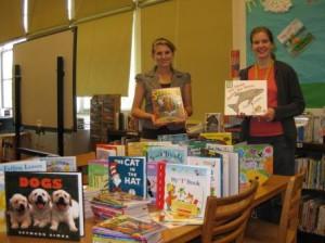 Buck-A-Book-2009-Phineas-Davis-Elem.-Lorraine-Brander-Library-AideL-Brianne-Markel-Special-Ed.-Teacher-and-BAB-Coordinator-R